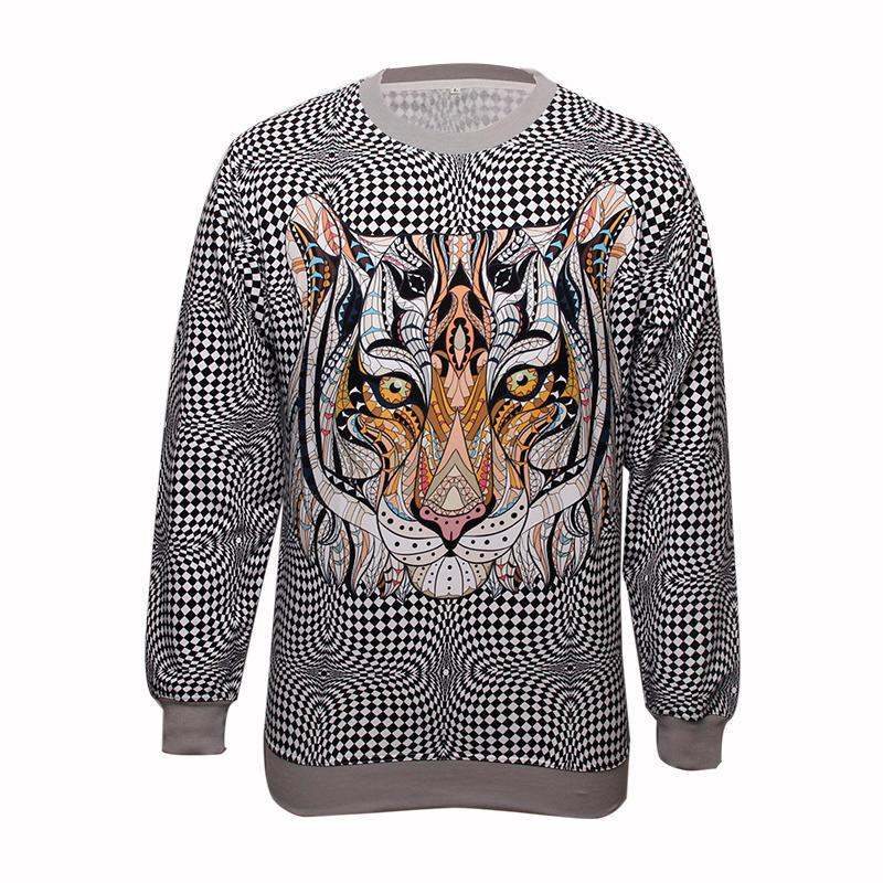 Fashion All polyester fabric Leopards pinting Sweatshirt