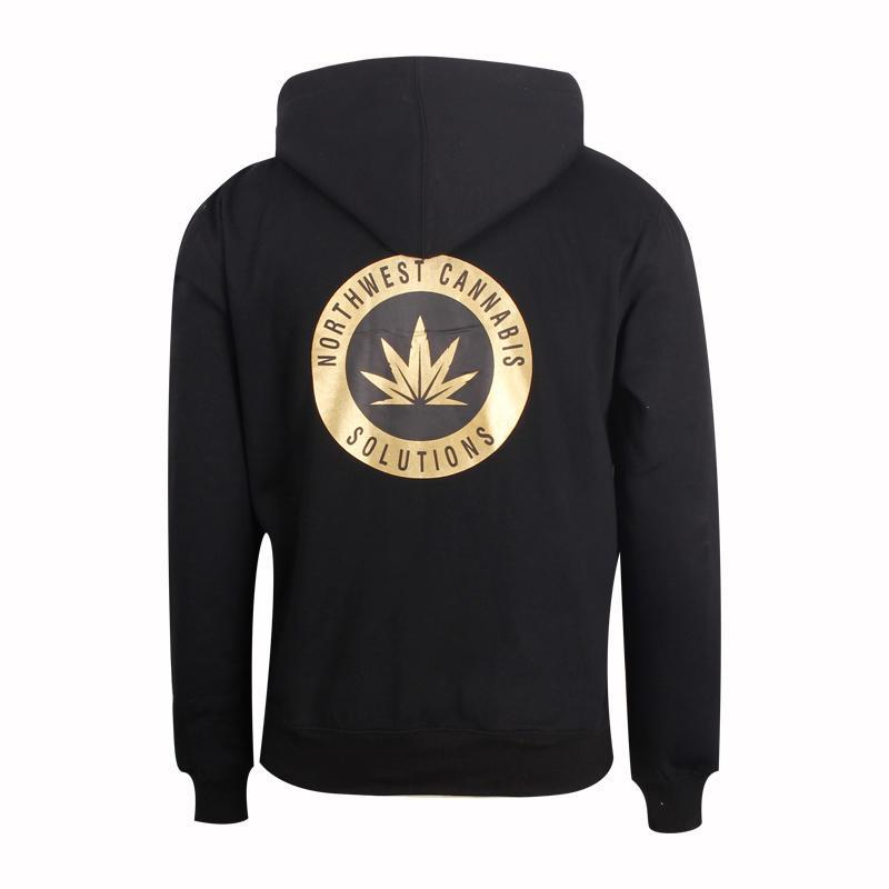pullover hoodie Thickened black printing