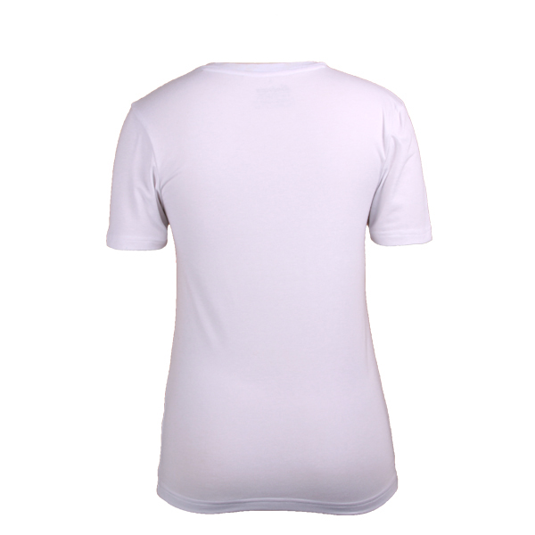 High Quality women T shirt short sleeve printed Cotton in White