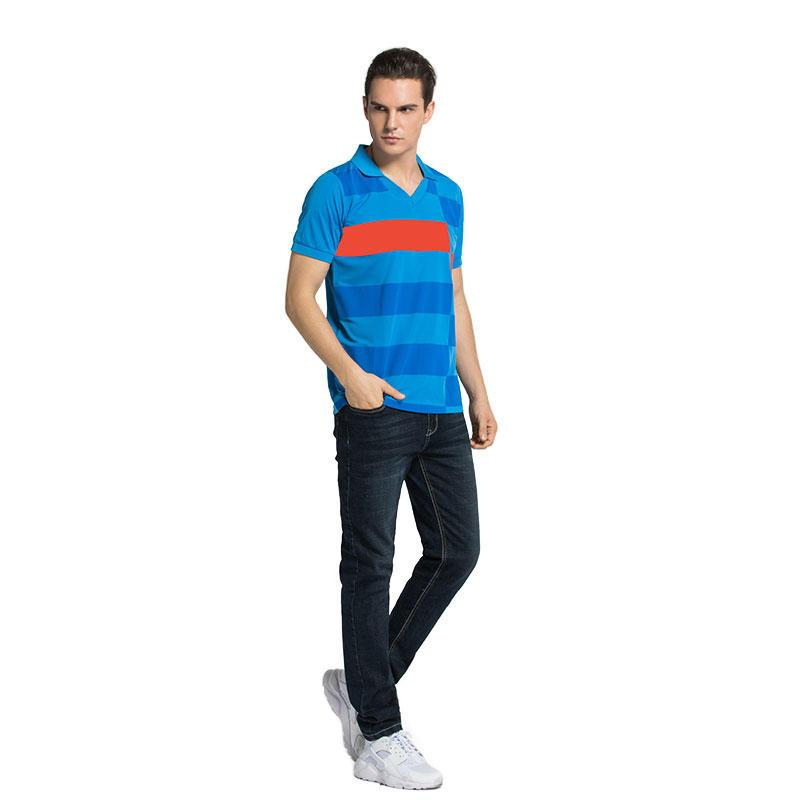 Polo TShirt Mens Casual 100 Cotton striped Short Sleeve in china